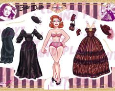 Marilyn Monroe paper doll - best to teach the classic style your lil daughter, neese, grand-daughter or little sister. Instant Download DIGITAL FILE- NO PHYSICAL PRODUCT WILL BE SENT   You will receive: 2 sheets digital paper JPEG files (no watermark like on the demo pix) Size: A4 ready to print High Quality 300dpi zip file  ZIP file Please extract files before printing (press with the right click of the mouse on the file and than press extract files here)  Download  This shop accepts only…