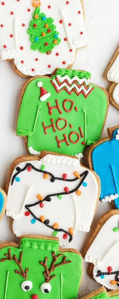 These Ugly Christmas Sweater Cookies are actually adorable and a fun, unique addition to your holiday festivities! Made with a buttery vanilla and anise-infused spiced cookie dough.