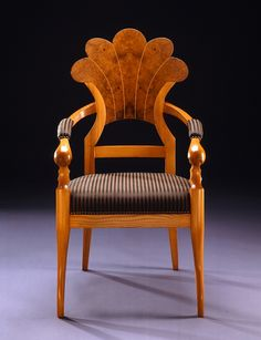 Antique Furniture Chair In The Style Of The Classicism Birds Eye Maple Root Veneer Can Be Repeatedly Remolded. Antiques