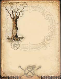 Elemental Tree page by Grim, scrapbook, art journal, Book of Shadows