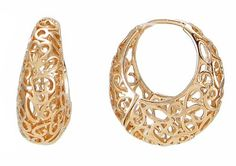 """18k Rose Gold Plated Ornate Heart Filigree Round Hoop Earrings Arco Iris Jewelry. $10.95. Dimension: 1"""" x  1"""" x 3/8"""" (See picture #5). Earring Clasps Made with Sterling Silver (Hypoallergenic). 18k Rose Gold Plated (Tarnish-free). Money-back Satisfaction Guarantee. Free gift box included now. Available in Rose Gold, Gold, and Silver Colors"""