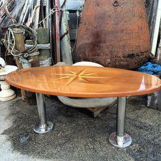 Teak and mahogany Yacht tables