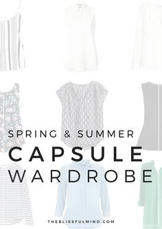 33 versatile pieces + example combinations for your summer capsule wardrobe!