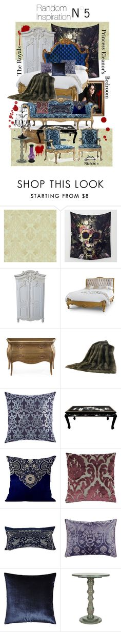 """""""Random Interior Inspiration: #5 - The Royals: Princess Eleanor's Bedroom"""" by jess-nichole ❤ liked on Polyvore featuring interior, interiors, interior design, home, home decor, interior decorating, John-Richard, HiEnd Accents, Pier 1 Imports and ADAM"""