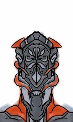 Concept for a new warframe helmet.