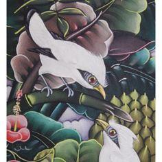 Lukisan objek motif burung jalak bali  Dimensi : 20x50 cm  Cocok digunakan untuk penghias dinding atau sebagai pajangan di kamar atau ruang tamu