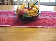 Quilted Red Table Runner by SweetDreamsbyMoosie on Etsy, $22.00