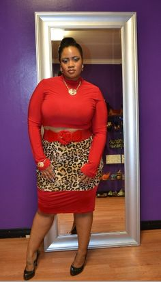 $24.00 each  New Plus Size Red Crop Top Mock Turtleneck 1X 2X 3X available at www.chicandcurvy.com #plussize #plussizefashion #fashion #chicandcurvyboutique