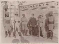 Boxer Rebellion German and Indian troops, 1900.
