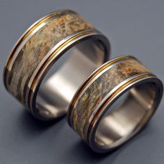 Minter + Richter | Wooden Wedding Rings - Alchemist Titanium Ring | Titanium Rings | Minter + Richter