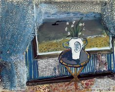 'View From a Window' by British artist John Piper Gouache and paper collage. via B-sides Edward Hopper, Gouache, John Piper Artist, Collage Art, Collage Illustration, Collages, Printmaking, Still Life, Abstract
