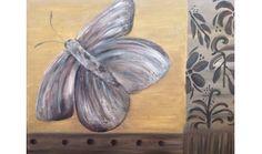Nachtvlinder geschilderd