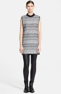 Helmut Lang Sleeveless Variant Grid Print Tunic available at #Nordstrom