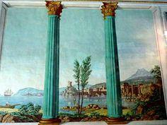 | Castello di Donnafugata (Rg) - Un affresco con escena marina
