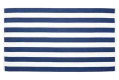 Cabana Stripe Beach Towel, Midnight Blue
