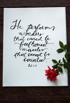 He performs wonders that cannot be fathomed Bible by StaciBobbin, $10.00