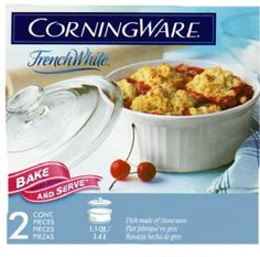 World Kitchen 6002266 Corning 1-1/2-Qt. French White Round Casserole With Cover - Quantity 1 >>> Special discounts just for this time only  : Bakeware