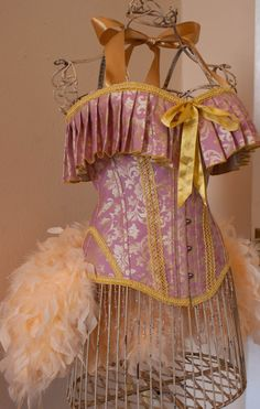 Burlesque Corset Costume pink and gold dress. I love this!