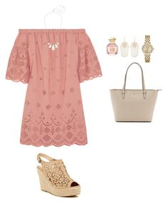 """""""Easter outfit?"""" by allysonehayden ❤ liked on Polyvore featuring Madewell, Bucco, Tory Burch, Kendra Scott, Kate Spade and Michael Kors"""