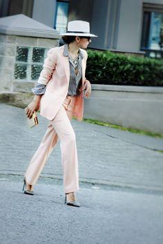 Pink Suit & Stripes! | Aurela - Fashionista