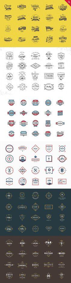 330 Logos Bundle - 88% off by vuuuds on @creativemarket #logo #brand #branding #design #creative #inspiration #ideas