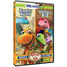 The Official PBS KIDS Shop | Dinosaur Train Dinosaur Big City/Dinosaurs A to Z Double Feature DVD - DVDs - DVDs, Blu-ray & CDs