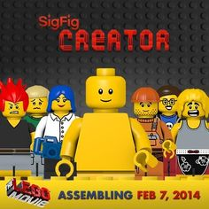 Now that you've met #TheLEGOMovie gang, create your very own SigFig to share!