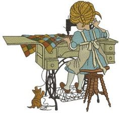 Sewing is my hobby machine embroidery design. Machine embroidery design. www.embroideres.com