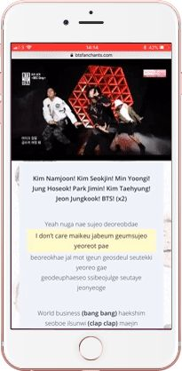 BTS Fanchant - learn BTS lyrics and fanchants by watching live stages and performances!