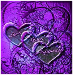 Love Peace Happiness - perfect on purple