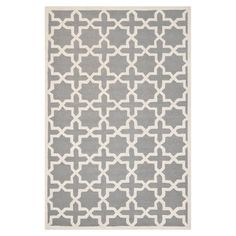 Hand-tufted wool rug with Moroccan trellis motif.Product: RugConstruction Material: WoolColor: Si...
