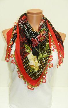 RED Multicolor leopard pattern Turkish Yemeni by WomanStyleStore, $32.00