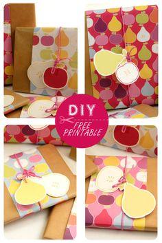 papier imprimables pommes et poires, plusieurs couleurs free papers