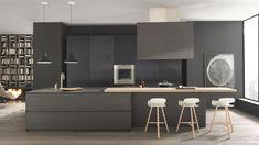 Proyectos de decoración de cocinas modernas con marcas exclusivas de cocinas de diseño italiano como Modulnova o electrodomésticos Gaggenau, Miele o Siemens.