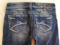 RaRe SILVER JEANS SALE Buckle Low Frances Destructed Bootcut Jean 28 X 32 #SilverJeans #BootCut
