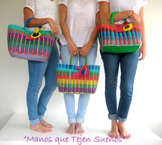 Mexican Fashion, Moda Boho, Basket Bag, Tapestry Crochet, My Bags, Straw Bag, Bag Accessories, Shopping Bag, Cute Outfits