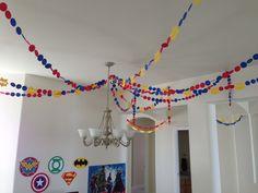 DIY super hero birthday party decorations.