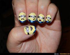 Uñas originales: Minions.