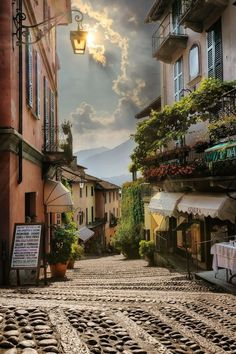 At the quaint village of Bellagio, Italy.