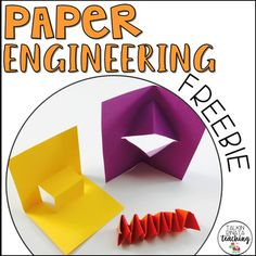 Browse over 220 educational resources created by Teach With Ashley in the official Teachers Pay Teachers store. Paper Engineering, Engineering Projects, Stem Projects, Arts And Crafts, Paper Crafts, Stem Steam, Qr Codes, Scissors, Scrap