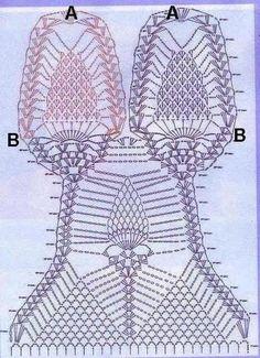 Trikini crochet con piñas