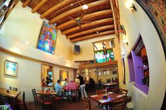 The Shed, Santa Fe NM.  Awesome and cheap. Great margaritas.