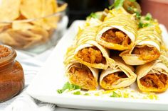 Air Fryer Chicken Taquitos are crispy on the outside and filled with flavorful chicken and then air fried to perfection. These homemade taquitos are perfect for lunch, dinner or even a snack. If you love crispy air fried chicken you will love this recipe. One of the best things about this recipe is that it's quick to make, and is kid friendly, the entire family will love these chicken taquitos. This simple air fryer recipe only needs a handful of basic kitchen staples. You may not even need to t