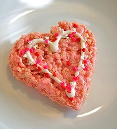 For Valentines...cute heart shaped Rice Krispy treats.  Would be fun for the kids to decorate!
