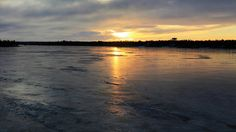 LENS and COVER: Frozen River and Sunset