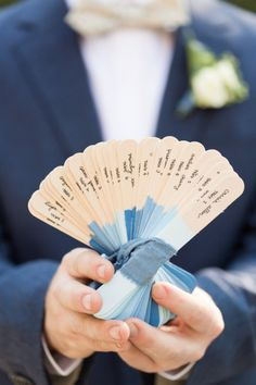 DIY escort cards: http://www.stylemepretty.com/new-york-weddings/new-york-city/brooklyn/2015/02/23/ombre-chambray-wedding-inspiration-shoot/ | Photography: Carlie-Juliet - http://www.charlie-juliet.com/