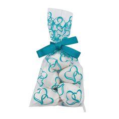 Mini Turquoise Hearts Cellophane Bags - OrientalTrading.com