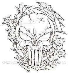 Punisher Skull Tattoo by Metacharis on DeviantArt Free Tattoo Designs, Tattoo Design Drawings, Skull Tattoo Design, Tattoo Art, Art Drawings, Mouse Tattoos, Skull Tattoos, Sleeve Tattoos, Tatoos