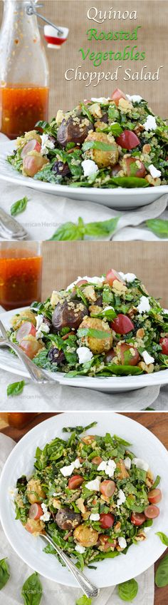 Quinoa Roasted Vegetable Chopped Salad {Thai Chili Vinaigrette} - So much flavor you won't even notice that it is incredibly healthy!!!