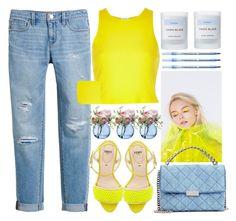 """Woke Up Neon Yellow"" by jiabao-krohn ❤ liked on Polyvore featuring White House Black Market, Byredo, Fendi, STELLA McCARTNEY, LSA International, BIC, River Island, Summer, Spring and neon"